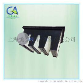 新疆乌鲁木齐F9 V型大风量组合式亚高效空气过滤器 塑料框密折式高效过滤网