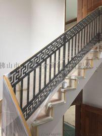 别墅定制款不锈钢镂空无焊点拉丝黑钛抗指纹楼梯扶手