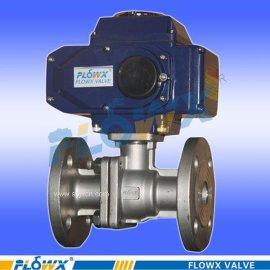 进口SNCR脱硝用电动切断阀 引进模具生产的球阀 电动法兰球阀