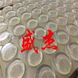 自粘平头透明胶垫 自粘锥形防撞胶粒生产厂家