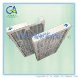 方格护网初效折叠板式过滤器 铝合金框  空调粗效滤网