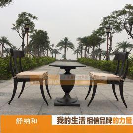工厂直销2017新款户外桌椅 2椅1桌别墅阳台休闲桌椅