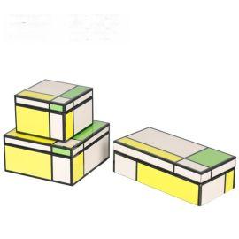 彩色亮光钢琴烤漆木质首饰盒简约收纳盒软装饰品样板间饰品摆件