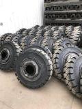 隧道衬砌车实心轮胎挂车牵引车拖车轮子厂家实心轮胎300-15