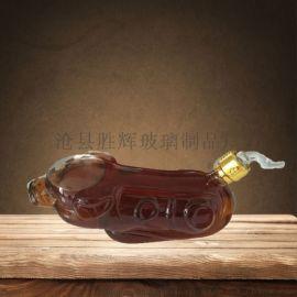工藝酒瓶12生肖造型玻璃瓶
