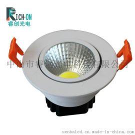 睿创光电LED天花灯 室内开孔筒灯厂家  RC-TH0201室内开孔筒灯