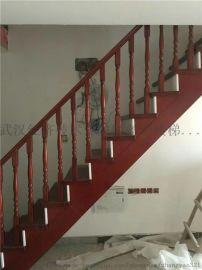 供应宜昌实木楼梯钢木楼梯玻璃扶手