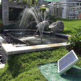 10W太阳能喷泉太阳能潜水泵12V水泵