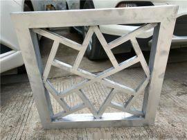 覆膜热转印铝窗花 复古木纹铝窗花 中式仿古铝窗花