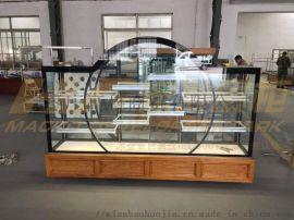 蛋糕模型柜-蛋糕样品柜-蛋糕展示柜厂家--宏发展柜