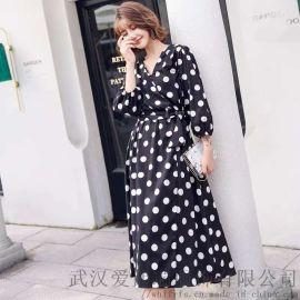 江苏服装进货渠道【现货】嘎斯菲尔品牌长款连衣裙