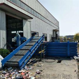 广西塑料瓶吨包袋140吨卧式液压打包机直销
