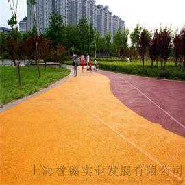 彩色透水地坪,生态园景观路面铺装