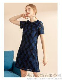 服装走份去那里拿货便宜艾唯都中长裙拼接裙子连衣裙