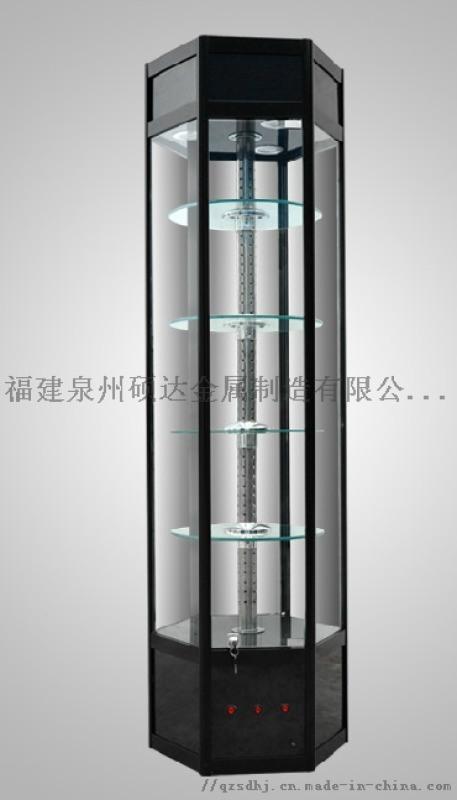 泉州精品展柜晋江六角展柜旋转式六角展示柜