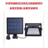 分體式太陽能感應燈七彩白光太陽能智慧燈