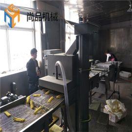 全自动天妇罗鱼排鱼条上浆裹粉机 可来公司考察试机