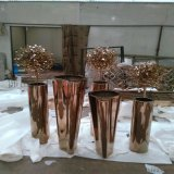 多边形不锈钢花器 弧形不锈钢花盆园艺花盆哪里可以做
