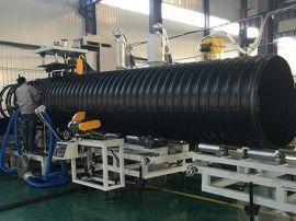PE钢带管 钢带增强波纹管  黑色排水排污管