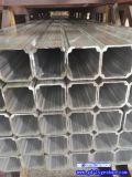 广东方管铝型材 立柱铝方管 日字形铝管开模定做