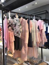 上海一线品牌女装 艾格春夏装库存品牌折扣清仓处理