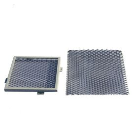 拉網鋁天花廠家直供菱形孔通風網格鋁單板吊頂