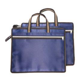 厂家批发  学生拉链式大容量文件袋手提包  LOGO定制书袋手提包