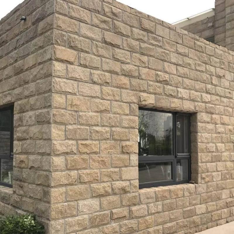 廠家大量批發天然板岩蘑菇石 外牆文化石 景觀園林石材 圍牆面磚