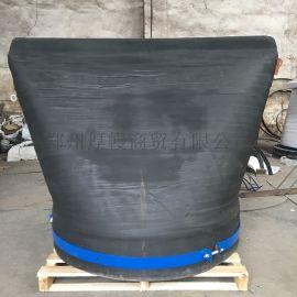 安徽DN2400大口径橡胶鸭嘴阀 市政排污止回阀