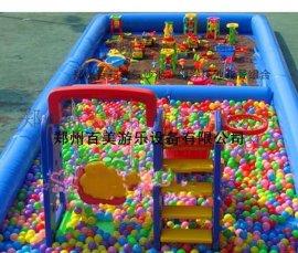 江西室外遊樂決明子充氣玩具,小型玩沙充氣池子價格