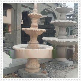 石雕喷泉 石雕风水球 园林景观低价销售