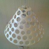 玛斯欧现代灯饰镂空环保树脂简约餐厅吊灯MS-P1018白色喷漆厂家批发