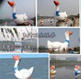 天中遊樂水上充氣大白鵝
