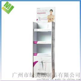 化妆品展示架超市展示架瓦楞纸板货架彩色印刷纸展示架立地式货架
