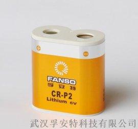 CR-P2孚安特 1400mah 照相机/警报专用 6v组合锂锰电池