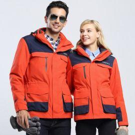 廠家直銷冬款女兩件套衝鋒衣定制logo工作服男款三合一防風防寒服