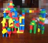 100粒積木木製兒童玩具益智智力啓蒙木質積木玩具