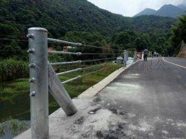 景区护栏厂家、景区防撞护栏、柔性五索钢丝绳护栏