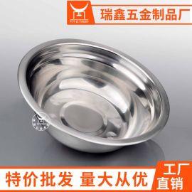 带磁410不锈钢平边汤盆 不锈钢礼品活动促销汤盆