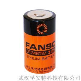 ER34615M孚安特 锂亚功率型 3.6v 一次性锂电池 ER34615