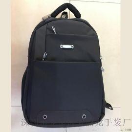 2017黑色雙肩電腦背包