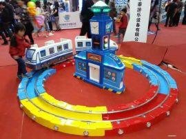 广场轨道火车儿童乐园游乐设备室内商场电动投币旋转玩具高铁城堡