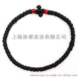 源头厂家直销编织手链 蜡绳手工编织祷告绳结 打结编织祈祷绳 祷告手链 blessed prayer ropes knot bracelet