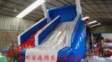 夏季爆款移动水上乐园/充气水滑梯水池一套多少钱?