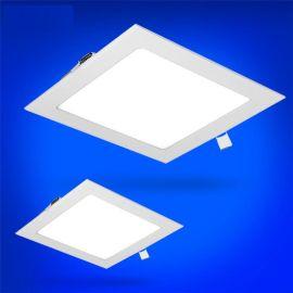 LED 面板灯方形圆形天花灯筒灯防雾平板灯3W4W6W...24W面板灯