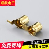 AV同芯插座铜套,AV黄铜插座铜套,2孔铜套