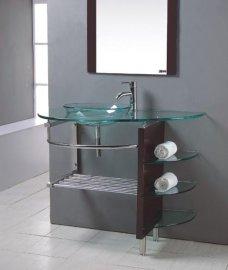 玻璃台盆(B-034)