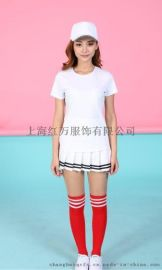 上海红万男女新款奥代尔棉圆领T恤供应 批发