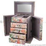 鴻茂工廠代加工定制玻璃珠寶盒鏡面首飾盒收納盒