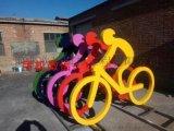 人物骑车雕塑 不锈钢抽象雕塑 人物雕塑 不锈钢雕塑定制